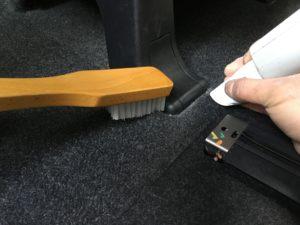 車内清掃 ブラッシング