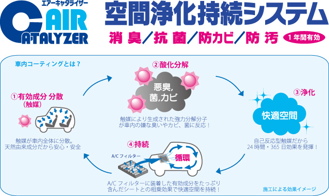 車内抗菌コーティング