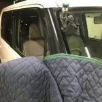 フロントガラスの端の方のひび割れ修理