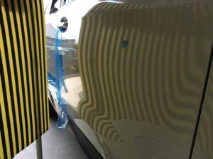 フォレスター運転席ドアのドアパンチ