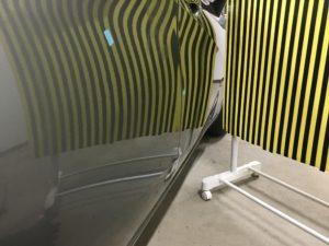 日産ノートに出来たドアパンチによるヘコミを修理