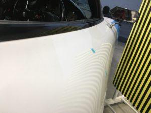FD3S運転席ドアのデントリペア