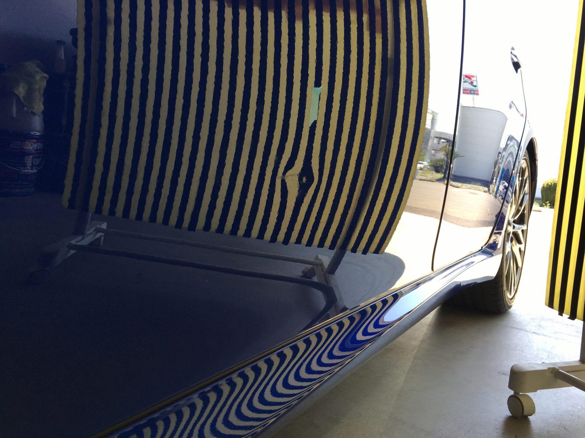 レクサスIS Fの助手席ドアのデントリペア